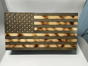 "AMERICAN FLAG CONCEALMENT CASE HIDDEN GUN STORAGE COMPARTMENT CABINET 20"" X 10"""