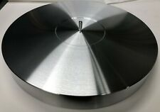 """TURNTABLE PLATTER MAT 300mm X 70mm 🇺🇸2-3/4"""" THK ALUMINUM WITH ATTACHED SPINDLE"""