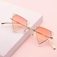 Men Women Fashion steampunk Triangle Sunglasses Vintage Hollow Eyewear Glasses