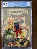 Amazing Spider-Man #53 CGC 8.0 (Marvel 1967) Doc Ock appearance!