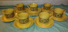 Kiln Craft Bacchus Staffordshire Ironstone Cup & Saucer Lot 7 Cups 11 Saucers EX