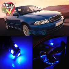 Interior Blue LED Lights Package 12 Pcs Fit Audi A4 S4 B5 Sedan Avant 98-02