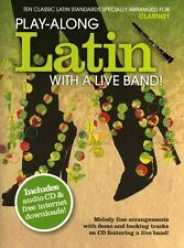 Play-Along Latin With A Live Band Learn to Play Clarinet Sheet Music Book & CD