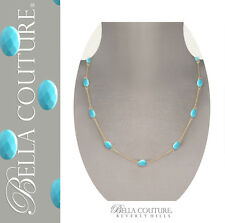 "ANTIQUE VINTAGE DIAMOND TURQUOISE 18K 14K NECKLACE $595 Adjustable CHAIN 18"" 24"""