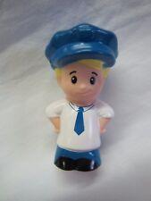 Fisher Price Little People EDDIE BUS DRIVER Blonde Boy BLUE HAT or SAILOR