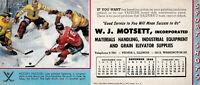 "1950 ~ HOCKEY Hustlers Blotter ~  ""SPORT SHOTS""  Brown Bigelow ~ PEORIA ILL"