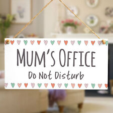 Mum's Office Do Not Disturb - Mum's Birthday Office Plaque Small Gifts For Her