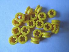 LEGO NEW PART 4265C YELLOW TECHNIC BUSH 1/2 SMOOTH x 20