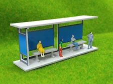 HO scale Building 1:87 gauge model train Railway layout Shelter Station Bus Stop