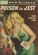 POPULAR LIBRARY 349 Poison In Jest John Dickson Carr Rudolph Belarski Vintage