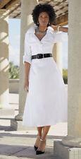 NEW WOMENS ASHRO WHITE RAYELLE DRESS WITH BLACK BELT INCLUDED PLUS SIZE 18W 18 W