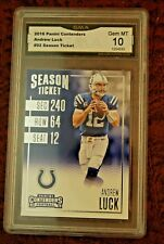 GRADED FOOTBALL CARD 2016 PANINI CONTENDERS ANDREW LUCK COLTS GEM MINT 10