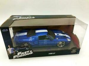 JADA 1:24 FAST AND FURIOUS FORD GT BLUE VEHICLE CAR COLLECTION MODEL DIECAST TOY