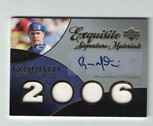 2007 Exquisite Russell Martin Gold Autograph Rookie Quad Jersey Card #'d /50
