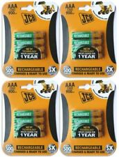 16 x JCB AAA 900mah Rechargeable Batteries LR03 HR03 Charged and Ready to Use