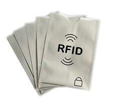 5x Anti Theft RFID Secure Sleeve Credit Card Holder Protector Safe Case Blocking