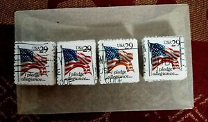 USA, SCOTT # 2593, USED LOT OF 100 STAMPS I PLEDGE ALLEGIANCE IN GOOD CONDITION