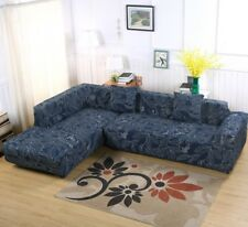 2pcs 3-Seater Stretch Elastic Fabric Sofa Covers Couch Slipcovers for Sectional