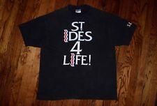 st ides 4 life malt liquor 40oz WU-TANG biggie snoop vtg 90s rap hip hop T-shirt