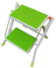 MINI Foldable Kitchen Safety Ladder 2 Step NonSlip Tread Folding Stepladder Fold