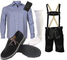 Herren Kurz Trachtenset Trachten Lederhose Trachtenhose Hemd Schuhe Socken