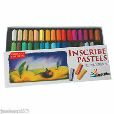 Inscribe Artists Soft Pastels 32 Half Stick Box Set Assorted Colours Art Set