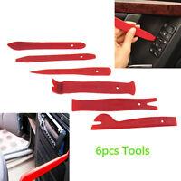 6pcs Car Radio Door Body Clip Panel Trim Dash Audio Plastic Removal Pry Tool Kit