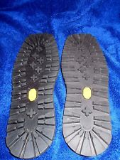 VIBRAM RUBBER  SOLES FOR BOOTS HIKING, WORK, MOTORCYCLE USE SOLE SIZE 10