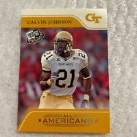 Calvin Johnson Rookie Card NFL Detroit Lions All Americans 2007 Press Pass