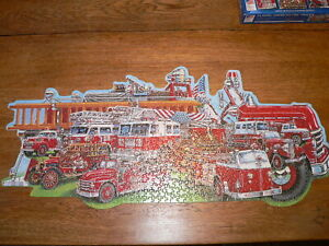 "730+ Pc Shaped Jigsaw Puzzle #9808 ""Classic American Fire Trucks""~Complete"