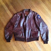 Mint WW2 USAF USAAF A2 A-2 Leather Flight Jacket Size 40