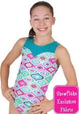 "New Gymnastic Snowflake Fortune Leotard Age 7-8 (28"")"
