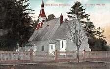 Bobcaygeon Ontario Canada birds eye view Christ Church antique pc Z18674