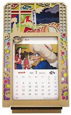 Ensky 2021 Stained Frame Calendar Desktop Photo Stand Spirited Away Kaonashi Sen