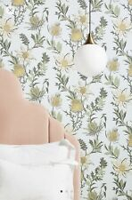 Anthropologie Cole & Son Thistle Wallpaper, Yellow NWT $248, 6 available