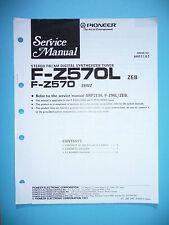 Manual de servicio para Pioneer f-z570, original