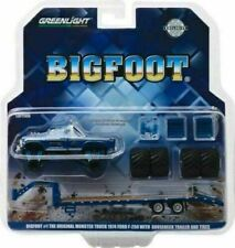 Greenlight 1/64 Bigfoot #1 Monster Truck & Gooseneck Trailer w/ Tires Set 30054