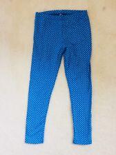 Girls Blue Spotted Full Length Leggings Age 6 years from TU