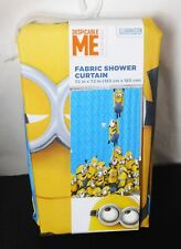 """Dispicable Me Minions Fabric Shower Curtain 72"""" x 72"""" - New in Package"""