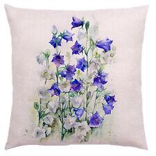 Kissenhülle Kissenbezug Motivkissen Pflanzen Canvas-Stoff Glockenblume