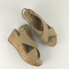 CL By Chinese Laundry Women's Tan Wedges Size 9.5 Open Toe Platform Sandals