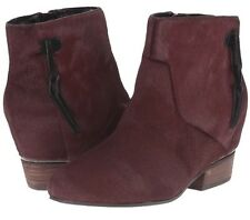 Volatile Cake Wine Leather Dyed Calf Fur Ankle Boot Bootie Size 8 MSRP: $120