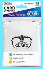 10 ULTIMATE GUARD WHITE CARD DIVIDERS New Standard Size Gaming Deck Box CCG TCG