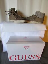 Sneakers guess Canvas Coated Khaki And Leather Grey Size 44