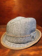 Penguin by Munsingwear Pork Pie Hat (S/M, Herringbone with brown accent)