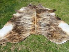 LARGE BRINDLE CARAMEL BROWN Cowhide Rug natural Cowhides Cow Hide Skin 6X6 FT RC