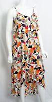 New BCBG Paris Women's Ruffle Maxi Dress YYC6F270 Vanilla Floral Medium $198