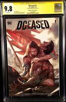 DCEASED #1 CGC SS 9.8 INHYUK LEE VARIANT ZOMBIE BATMAN WONDER WOMAN SUPERMAN DC