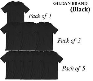 1 3 5 PACKS OF COTTON GILDAN PLAIN CHEAP T SHIRTS 6 Colors SUMMER MENS LOT