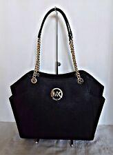 Michael Kors - Jet Set Travel Large Chain Leather Shoulder Tote - Black